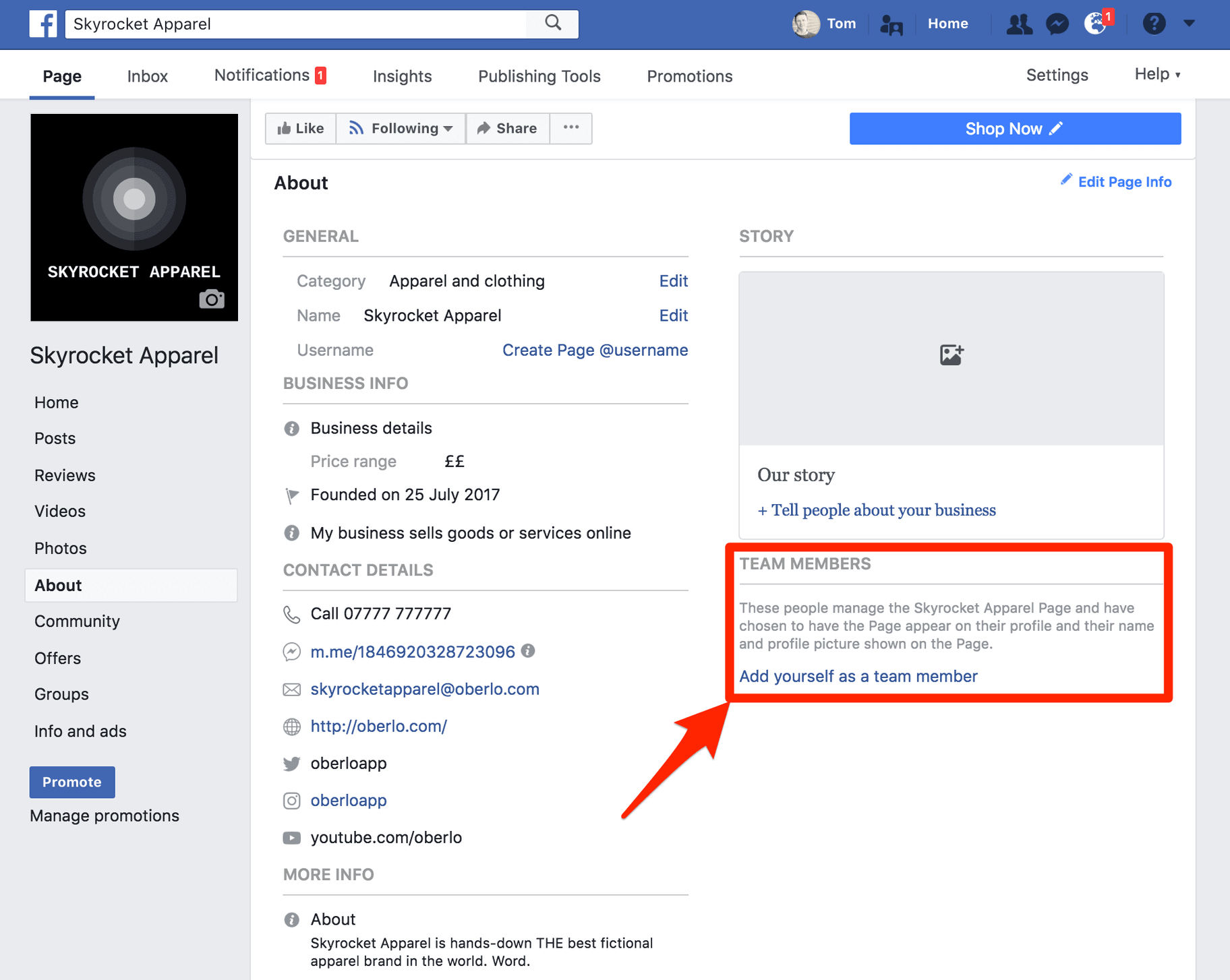Thong tin ca nhan va doanh nghiep tren Facebook