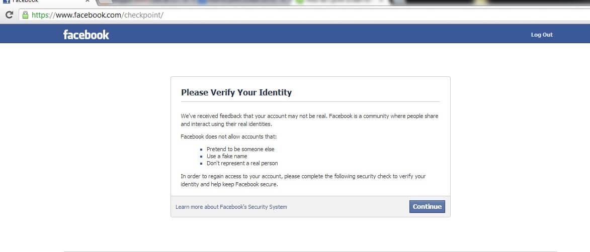 hinh anh khi bi check point facebook