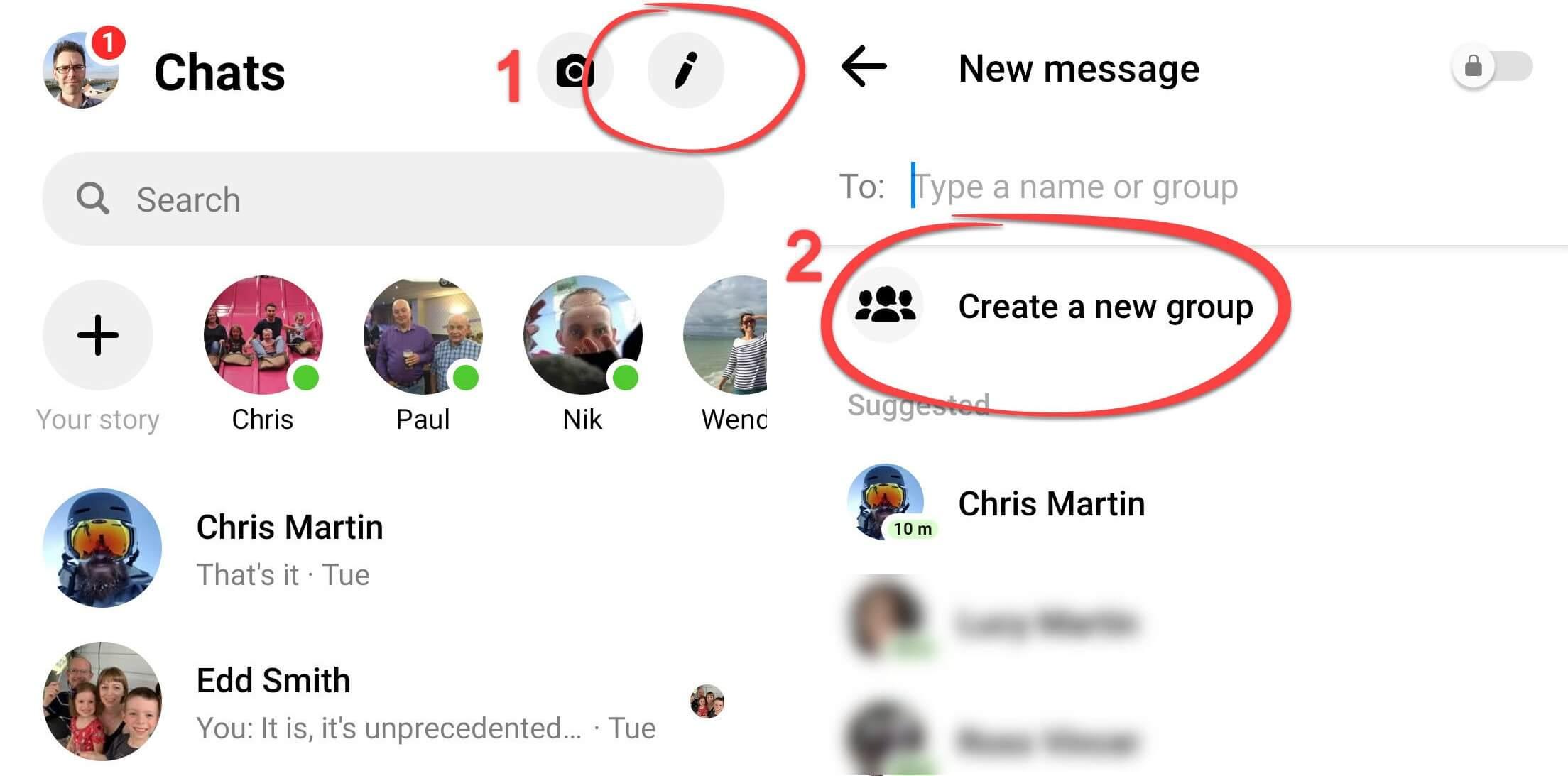 Tao nhom chat tren Facebook Messenger nhanh chong